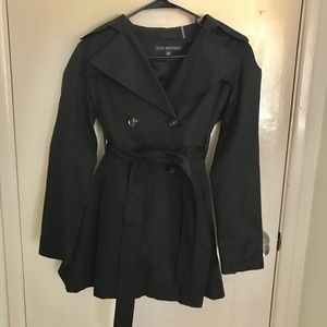 Black pleated Via Spiga raincoat